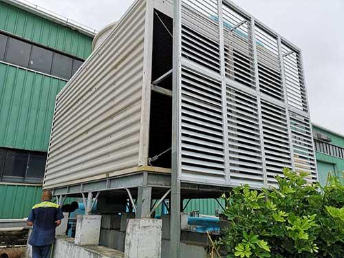 国庆期间为珠海银隆提供冷却塔抢修服务