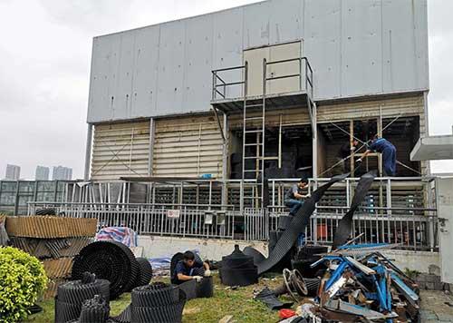 深圳沃尔玛龙岗店冷却塔维修改造及降噪工程