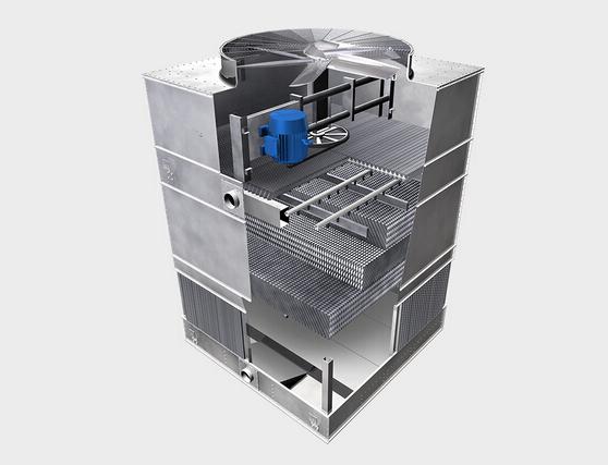 方型逆流式冷却塔