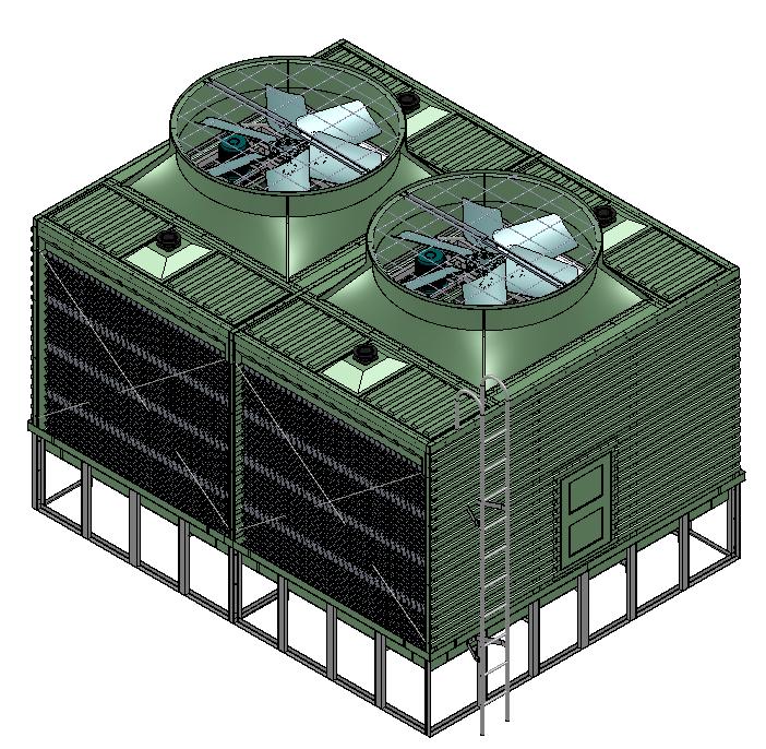 横流方形冷却塔技术参数表
