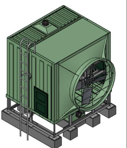 方形侧出风冷却塔技术参数