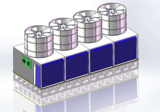 横流方形超静音冷却塔