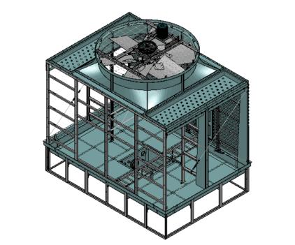 新菱冷却塔风机减速器电机更换